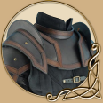 Leather Armour Shoulder and Neck Guard